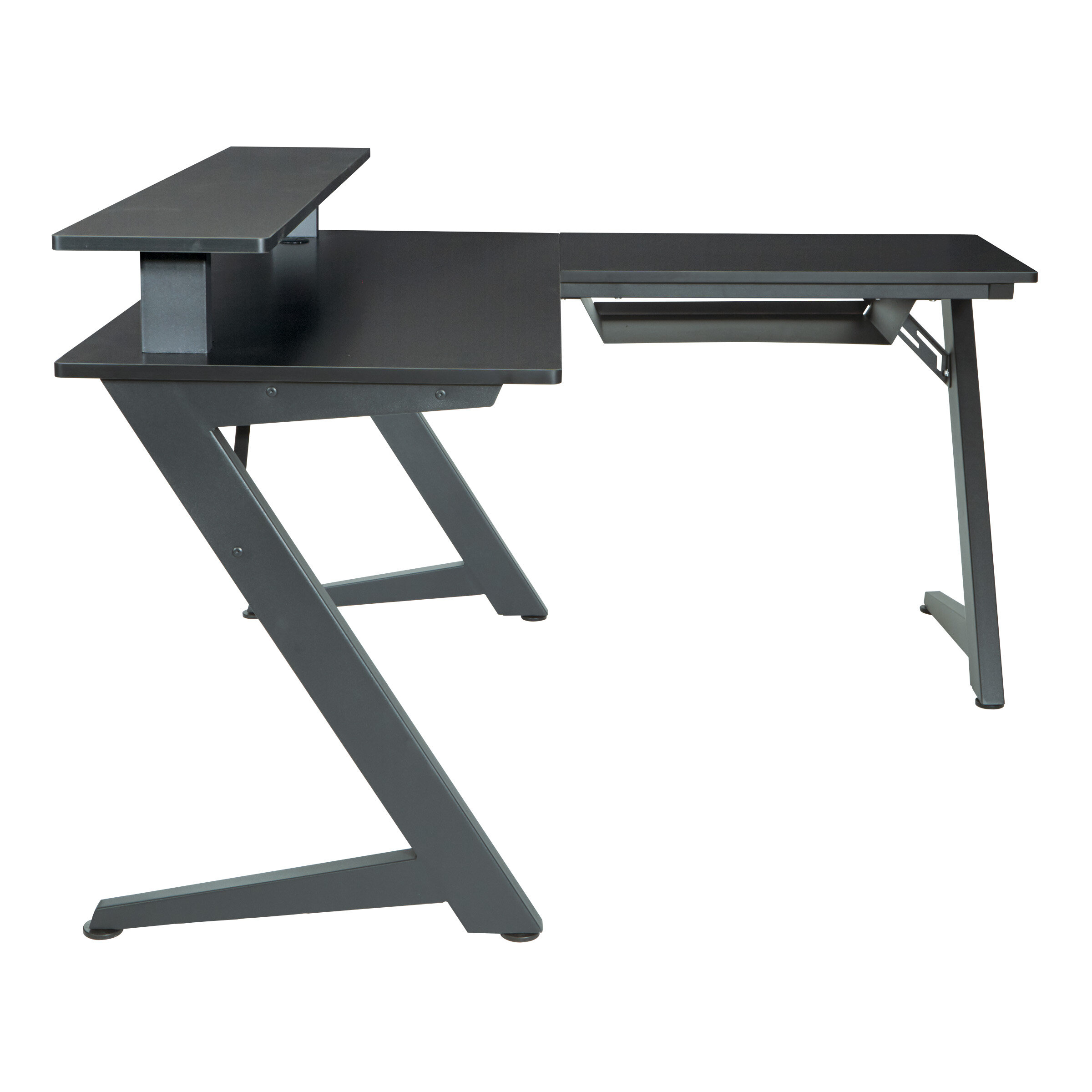 Ivy Bronx Amold L-Shape Gaming Desk with Hutch & Reviews   Wayfair