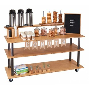 Coulter Kitchen Cart with Wood Top