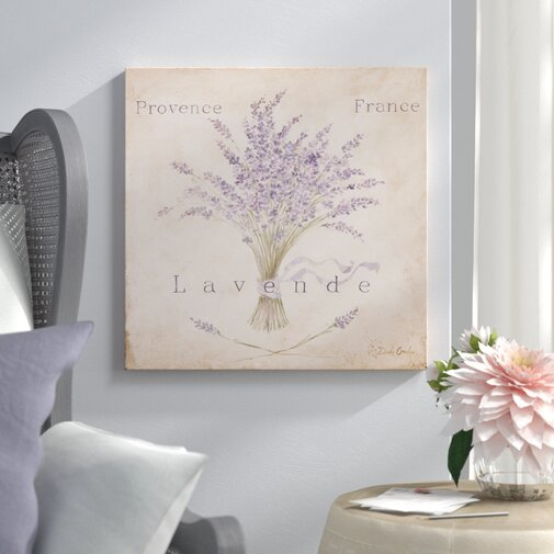 Lavende Panel Painting Print on Wrapped Canvas