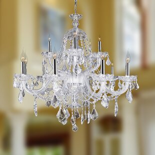 Astoria Grand Doggett 15-Light Candle Style Chandelier