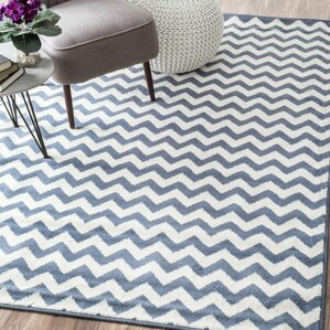quesinberry chevron light bluewhite area rug
