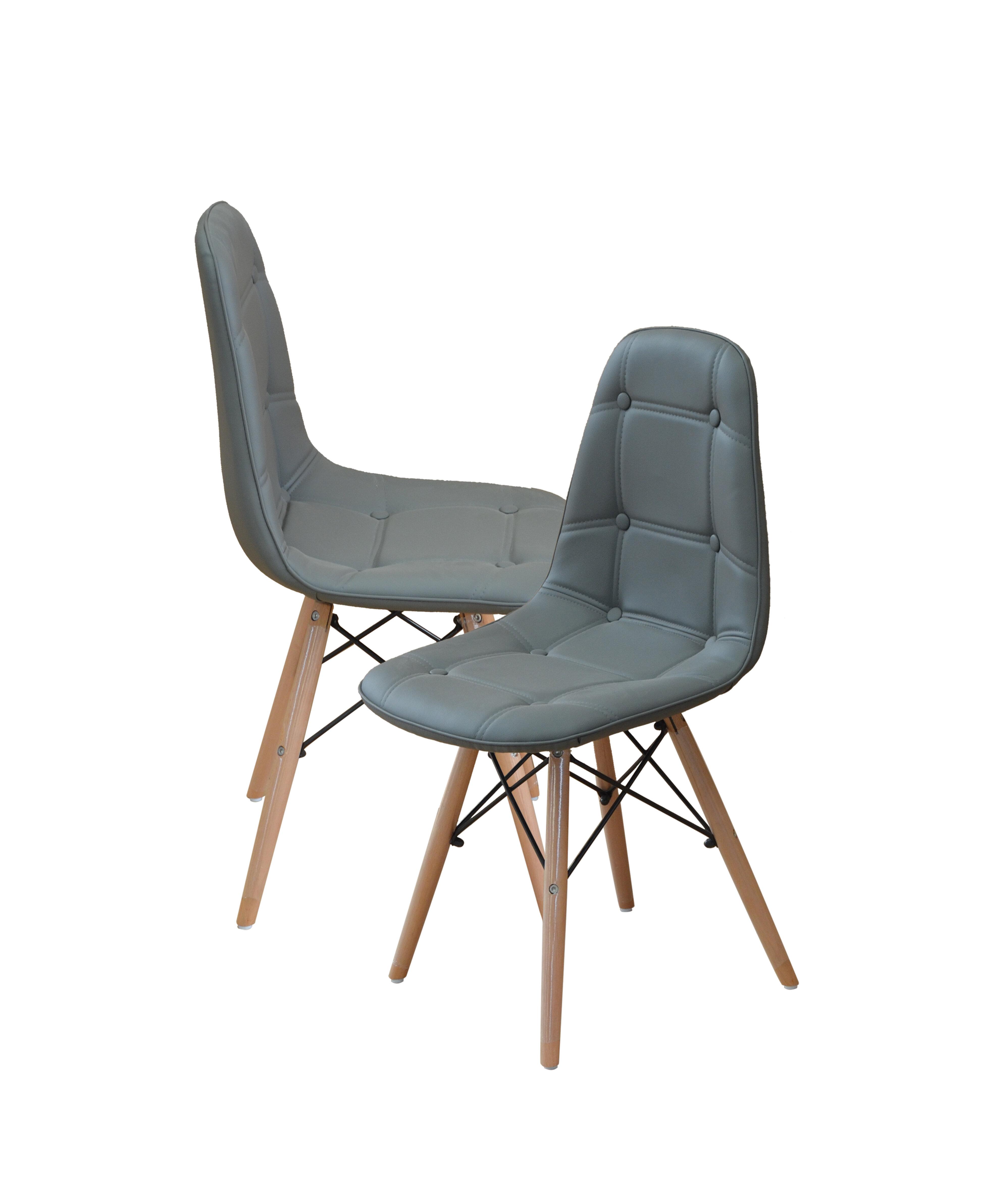 Madison Home USA Modern Tufted Wood Legs Side Chair U0026 Reviews   Wayfair