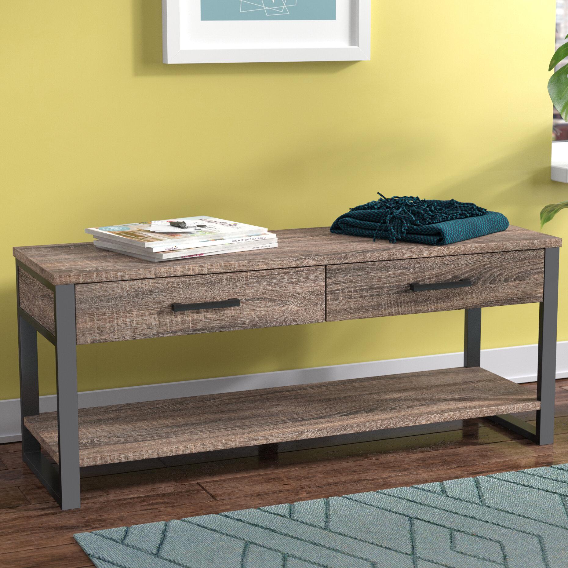 Orren Ellis Arsdale Wood Storage Bench & Reviews   Wayfair