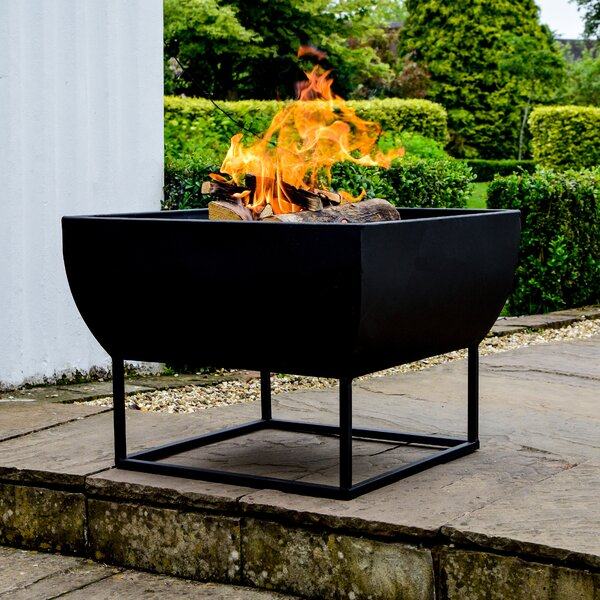 Freeport Park Breana Iron Charcoal Wood Burning Fire Pit