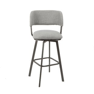 Alydar Adjustable Height Swivel Bar Stool by Ebern Designs