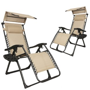 Skinner Patio Lounge Zero Gravity Chair (Set of 2)