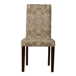 Lattimore Brown/Beige Upholstered Parsons Chair (Set of 2) by Red Barrel Studio