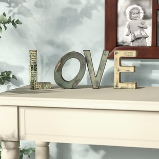 letter block decorative objects you ll love wayfair