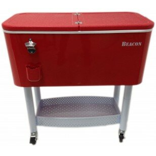 65 Qt. Rolling Party Cooler by Beacon Garden Products Today Sale Only