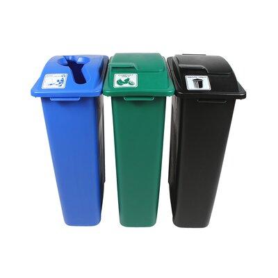 - Single 23 Gallon Recycling Bin TM Busch Systems Waste Watcher Paper