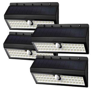 Deluxe Comfort Solar Garden 44 Light LED Flood Light (Set of 4)