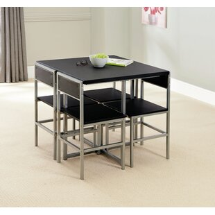 Review Chevery Extendable Dining Set With 4 Chairs