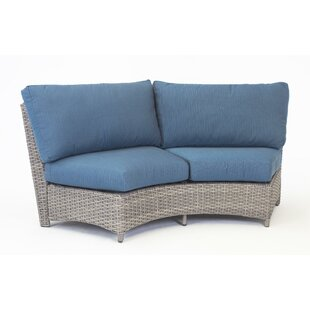 Losey Curved Loveseat with Cushion