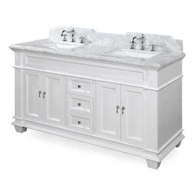 "kbc elizabeth 60"" double bathroom vanity set & reviews 