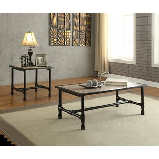 17 Stories Cronk Industrial 2 Piece Coffee Table Set
