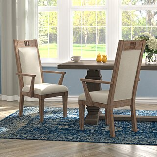 Ariel Upholstered Dining Arm Chair by Gracie Oaks SKU:EE326633 Order
