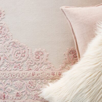 Bungalow Rose Fontanne Pink/White Area Rug & Reviews | Wayfair