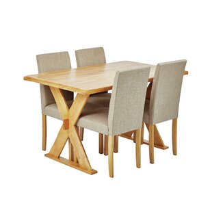 Seavey Dining Set With 4 Chairs By Mercury Row