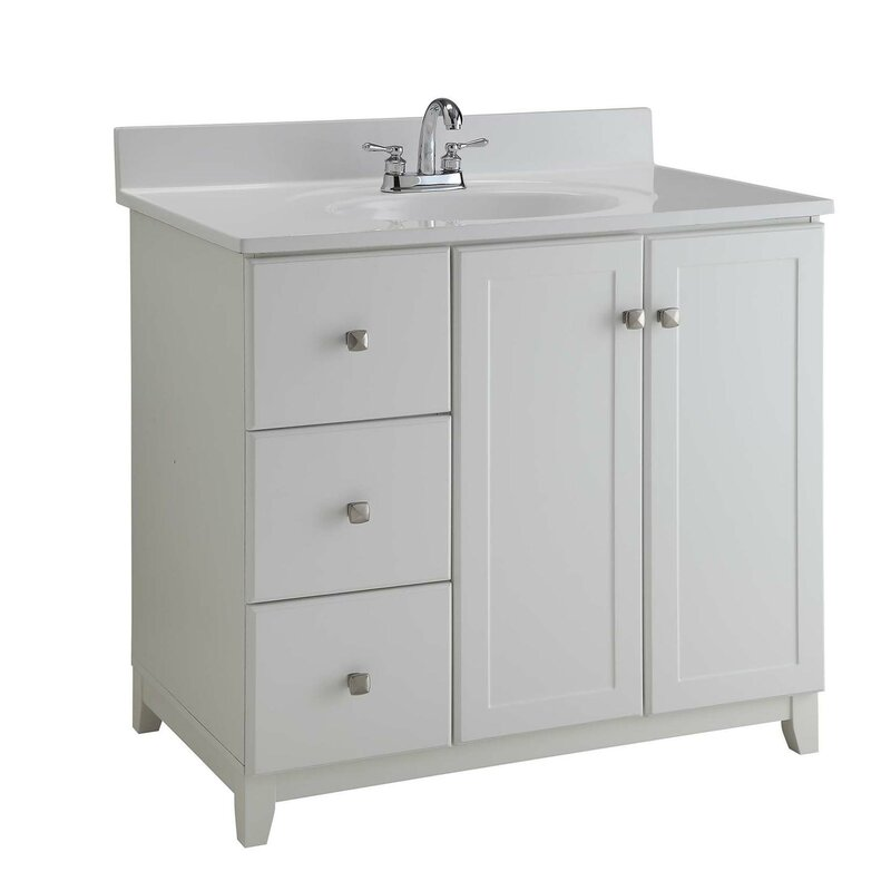 "Bathroom Vanity Base design house 36"" single bathroom vanity base & reviews 