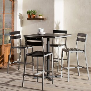 Madbury Road Milloy 5 Piece Bar Height Dining Set
