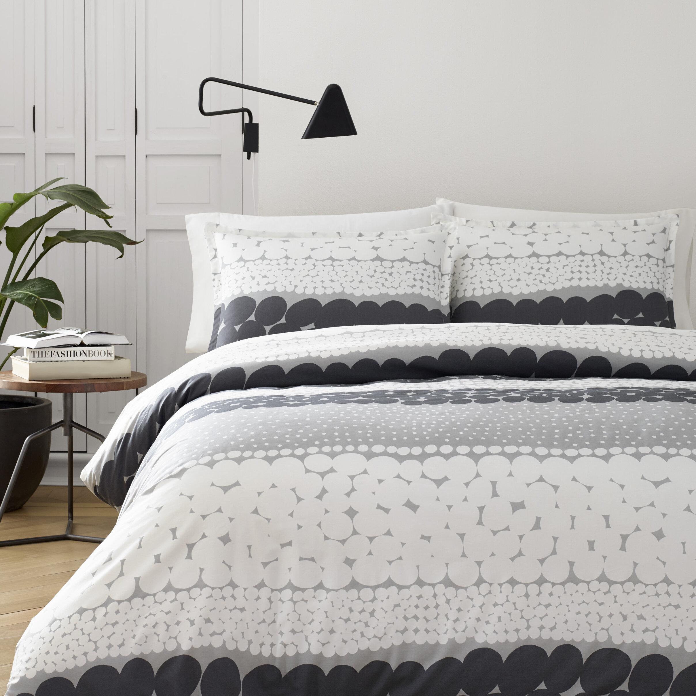 happy bed scandinavian marimekko bedding modern a inspired grey lucky bedroom