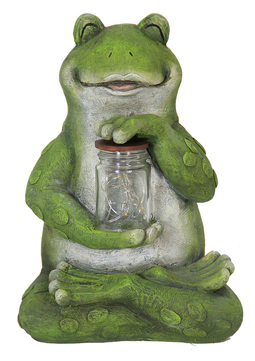 Exhart Solar Frog With Encased Fireflies Statue U0026 Reviews | Wayfair