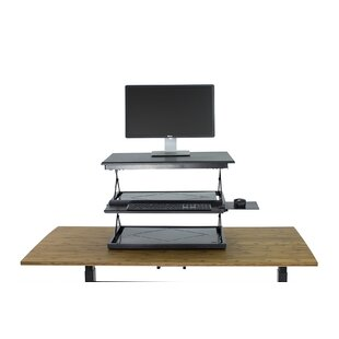 Height Adjustable Standing Desk Converter by Uncaged Ergonomics