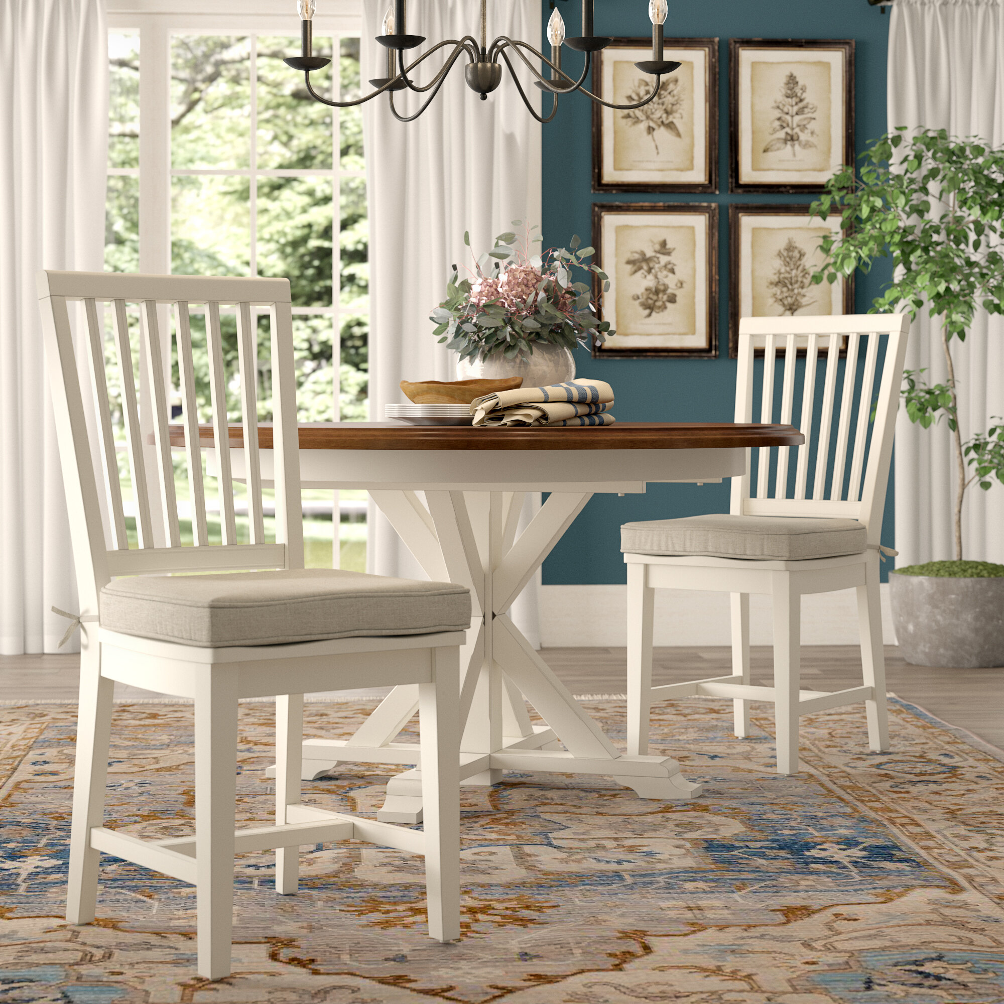 Gulielma Upholstered Slat Back Side Chair Reviews Birch Lane