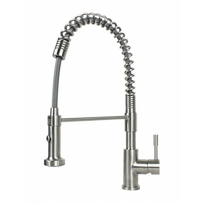 eModern Decor Tulip Pull Out Single Handle Kitchen Faucet ...