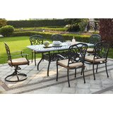 Battista 7 Piece Metal Frame Dining Set with Cushions