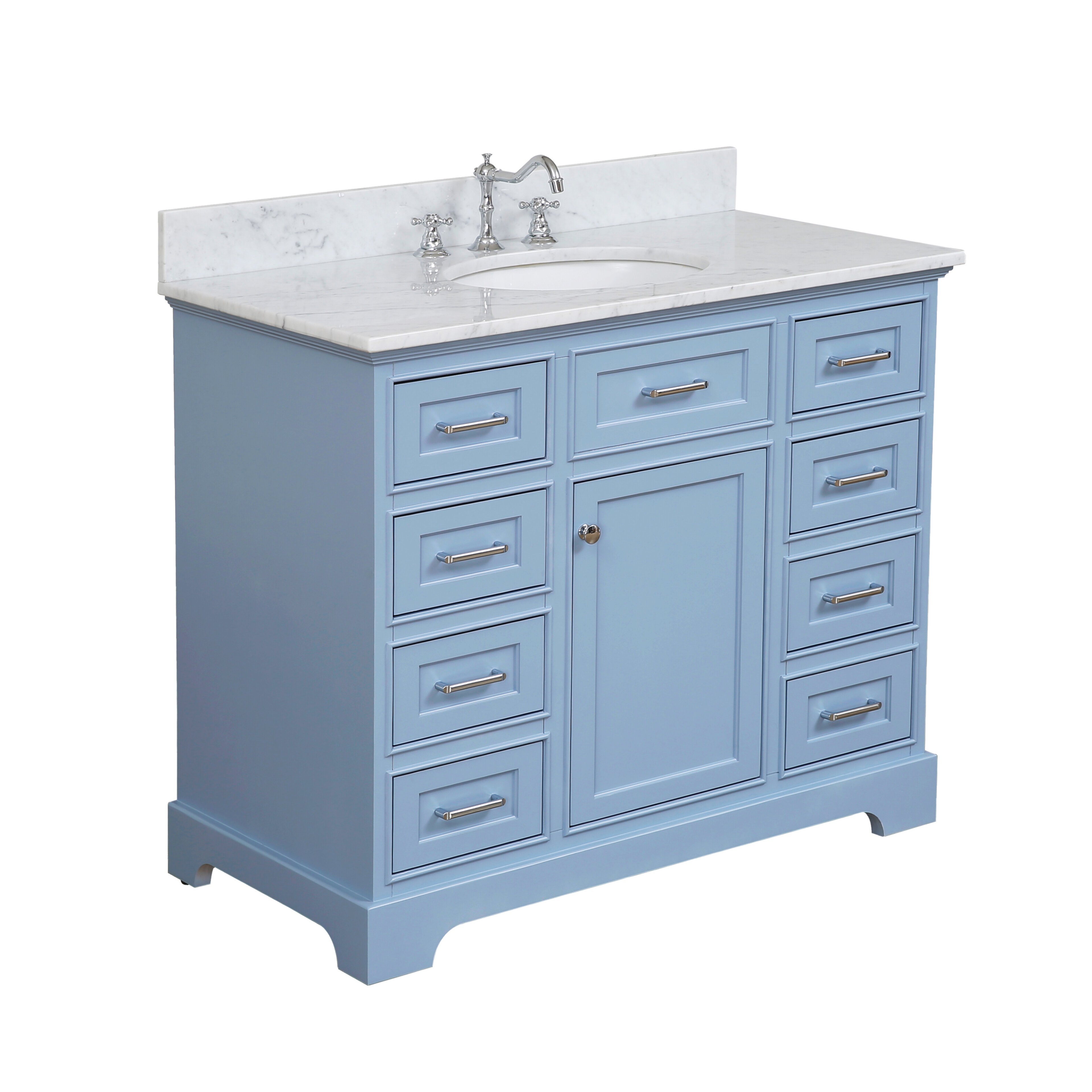 Bathroom Vanities Tools Home Improvement Katherine 72 Inch Double Bathroom Vanity Carrara Royal Blue Includes Royal Blue Cabinet With Authentic Italian Carrara Marble Countertop And White Ceramic Sinks