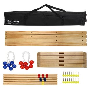 Hathaway Games Solid Wood Ladder Toss Game Set