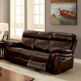 Caswell Leather Reclining Sofa..