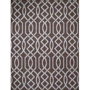 Shuman Dark Brown Indoor/Outdoor Area Rug