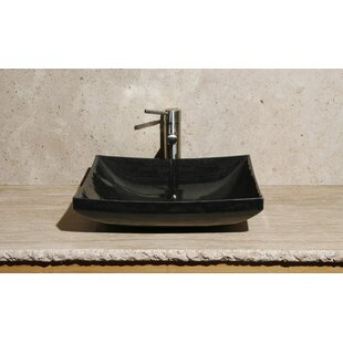 Allstone Group Stone Rectangular Vessel Bathroom Sink
