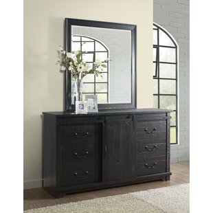 Red Barrel Studio Saige Home Farmhouse 9 Drawer Combo Dresser with Mirror Image