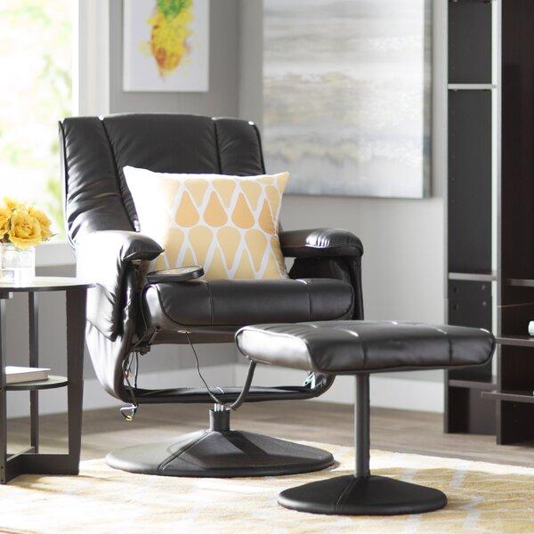 Zipcode Design Leather Heated Reclining Massage Chair with Ottoman u0026 Reviews   Wayfair & Zipcode Design Leather Heated Reclining Massage Chair with Ottoman ... islam-shia.org