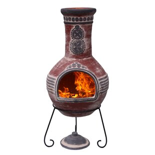 Clay Wood Burning Chiminea By Gardeco