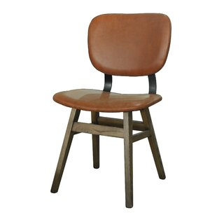 Riner Leather Upholstered Dining Chair (Set of 2)