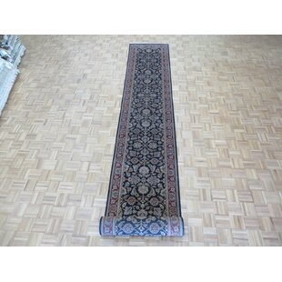 One-of-a-Kind Bearfield Hand-Knotted Wool Black Area Rug Isabelline