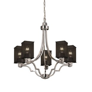 17 Stories Bennett 5-Light Shaded Chandelier