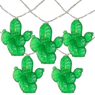 Prickly Pear Cactus Summer 54 ft. 10-Light Novelty String Light by The Party Aisle