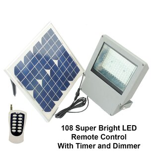 Symple Stuff Heitman LED Solar Power Battery Operated Outdoor Security Flood Light