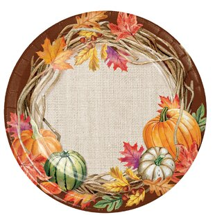 Maja Wreath Paper Dessert Plate (Set of 24)