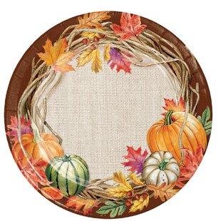 Maja Wreath Paper Dessert Plate (Set of 24)