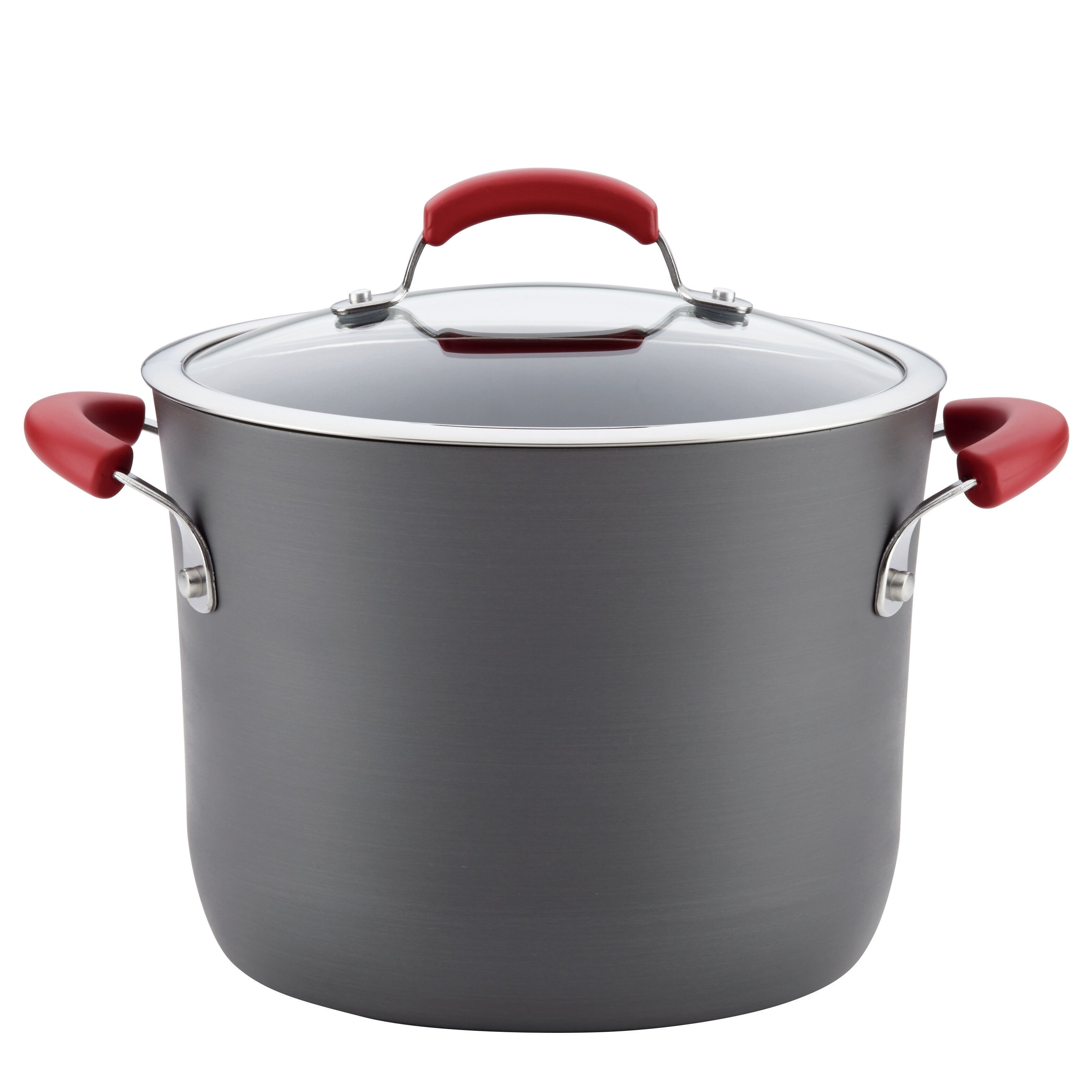 Rachael Ray 8 Qt Non Stick Covered Hard Anodized Aluminum Stock Pot Reviews
