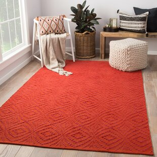 Arbor Hand-Loomed Red Indoor/Outdoor Area Rug