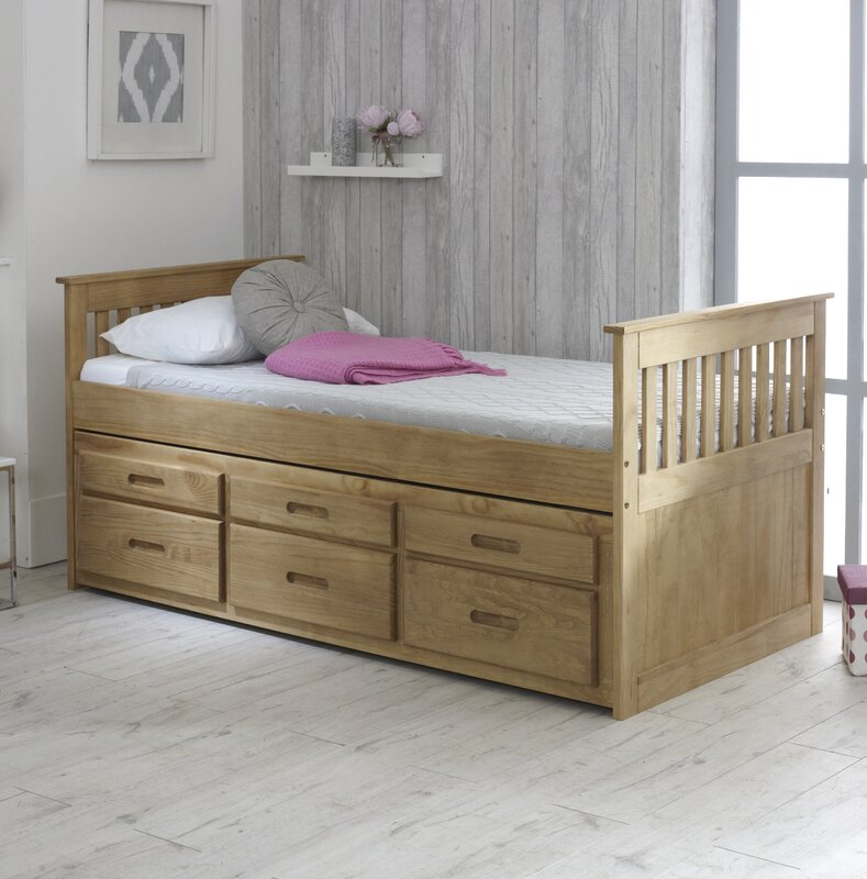 childrens beds with storage just captains single bed frame with trundle and 14807