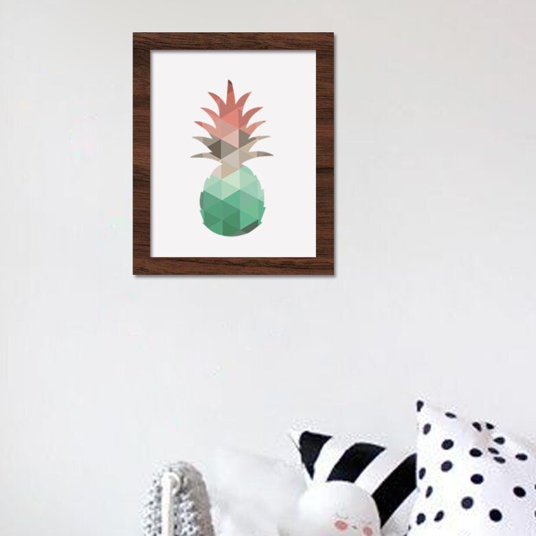 Wrought Studio Pineapple Framed Graphic Art Print On Canvas Wayfair