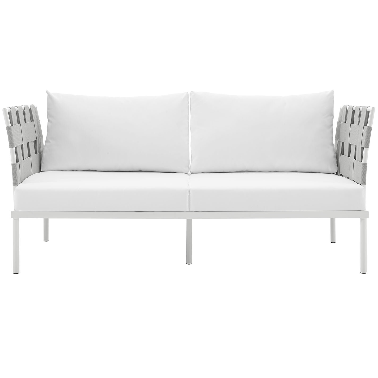 Reyna Outdoor Patio Loveseat With Cushions Reviews Allmodern